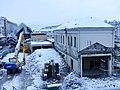Gare de Chambéry en démolition sous la neige (hiver 2018).JPG