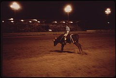 Garfield County Fair. Nighttime Rodeo for 4-H Club Boys, 09-1973 (3815845794).jpg