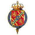 Gartered arms of William III, King of the Netherlands.png