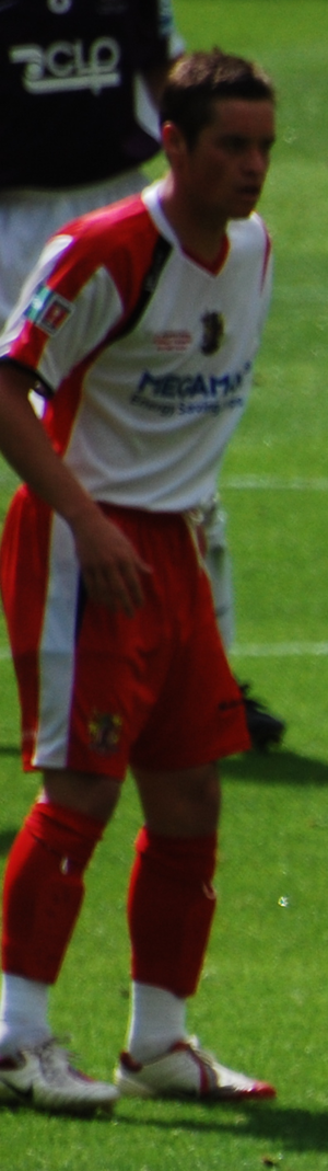 Gary Mills (footballer, born 1981) - Mills playing for Stevenage Borough in the 2009 FA Trophy Final