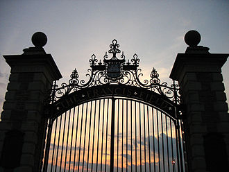Francis Field (Missouri) - Image: Gates to Francis Field Danforth Campus of Washington University in St. Louis