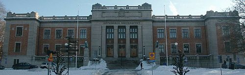 The administration building of Gothenburg University