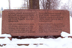 Second Army (Poland) - A Memorial stone in Bautzen