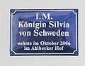 Gedenktafel Dünenstr 47 (Ahlbeck) Königin Silvia von Schweden.jpg