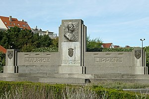 Maurice Lippens (politician) - Monument to Lippens in Knokke-Heist, Belgium