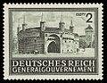 Generalgouvernement 1943 113 Barbakan, Torzwinger in Krakau.jpg