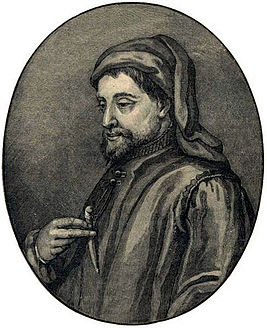 Geoffrey Chaucer - Illustration from Cassell's History of England - Century Edition - published circa 1902.jpg