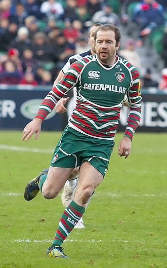 Leicester Tigers - Geordan Murphy, pictured in 2012, played 322 games for Leicester between 1997 and 2013.  He is the most decorated player in the club's history with 8 Premiership titles, 2 European titles and 2 Anglo-Welsh cups.