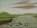 George Catlin - Buffalo Herds Crossing the Upper Missouri - 1985.66.400 - Smithsonian American Art Museum.jpg
