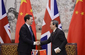 Ma Kai - Ma Kai meeting with Britain's Chancellor of the Exchequer George Osborne in October 2013