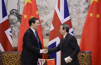 George Osborne - George Osborne at an official visit to China in October 2013