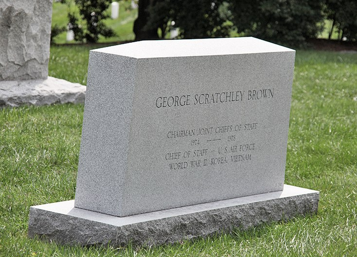 George Scratchley Brown headstone - Arlington National Cemetery - 2011.JPG