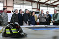 George W. Bush attends briefing about recent tornado damage at Lafayette Fire Department.jpg