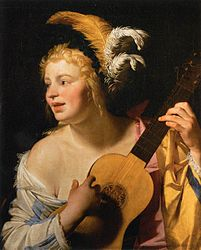Gerard van Honthorst: Woman Playing the Guitar