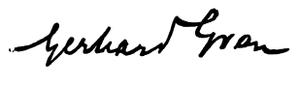 Gerhard Gran - Image: Gerhard Gran signature