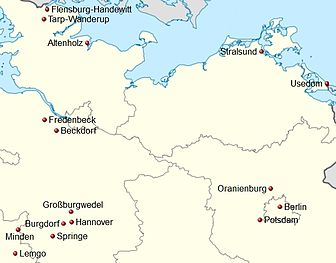 Germany location map Handball 3. Liga Nord 2012-13.jpg
