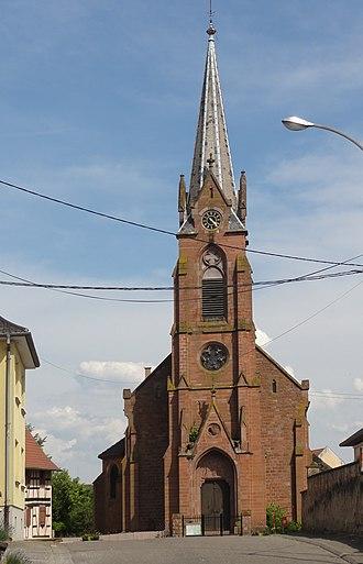 Geudertheim - Image: Geudertheim Eglise Cath 01
