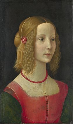 Ghirlandaio, Domenico workshop - Portrait of a girl - National Gallery.jpg