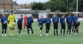 2011–12 Gillingham F.C. season - The Gillingham team line up before the friendly against Ramsgate