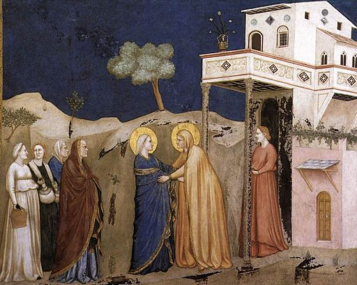 Giotto, Lower Church Assisi, The Visitation 01