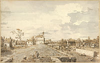 Giovanni Antonio Canal, il Canaletto - The Porta Portello with the Brenta Canal in Padua, 1740-1743 - Google Art Project.jpg