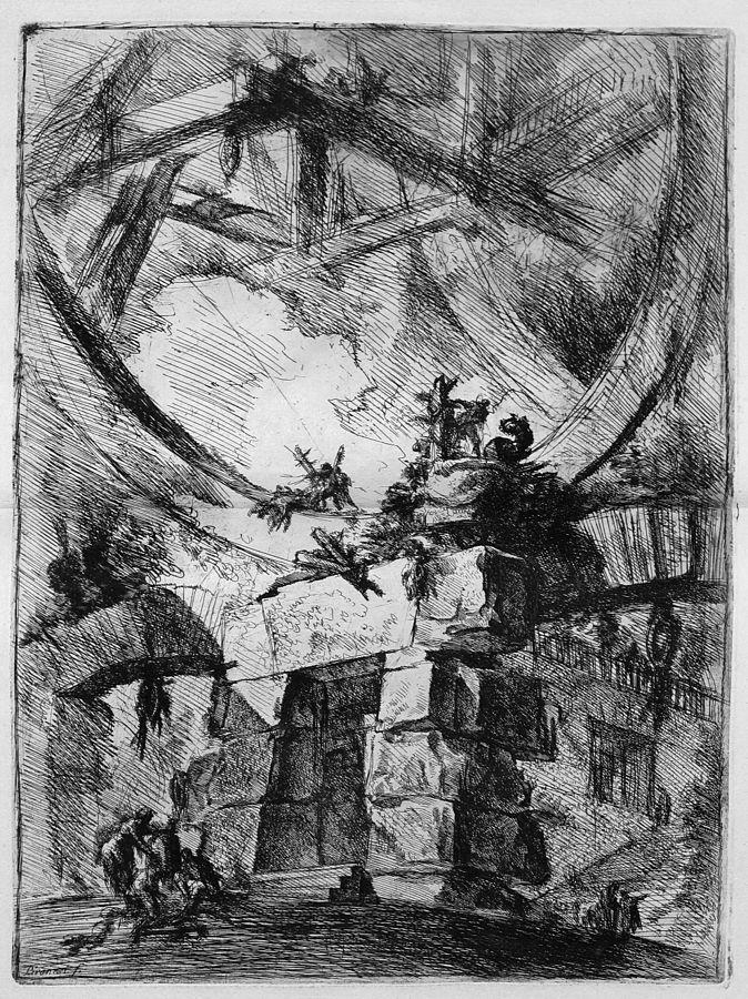 Le Carceri d'Invenzione, plate IX: The Giant Wheel