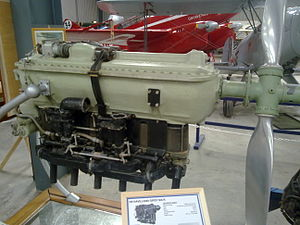 De Havilland Gipsy Six -  Preserved at the Shuttleworth Collection One of the original Gipsy Six R racing engines that was fitted to the winning DH.88 Comet Grosvenor House (background) of the MacRobertson Air Race  in 1934, the engines were removed from the aircraft following the race and replaced with the more reliable standard Gipsy Six engines.