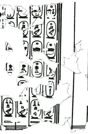 Giza writing board - king list.
