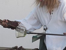 Glassblowing demo at North California Renaissance Fair in 2010