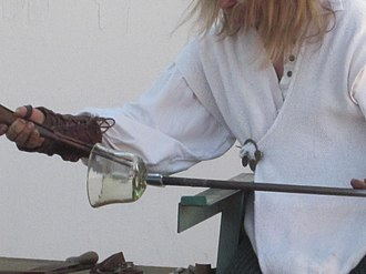 Glassblowing - Glassblowing demo at North California Renaissance Fair in 2010