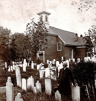 Gloria Dei (Old Swedes') Church - The Reverend Jehu Curtis Clay in the churchyard (c.1860)