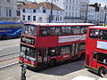 Go South Coast events fleet 1908 W508 WGH and Ryde bus station elderly pedestrian 2.JPG