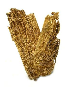 Nye County, Nevada - Gold specimen from the Round Mountain Gold Mine.