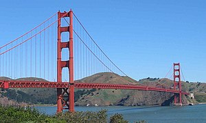 Transportation in California - The Golden Gate Bridge in San Francisco