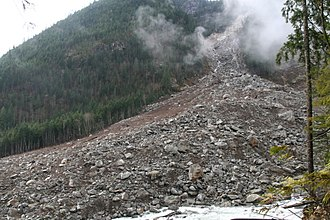 Landslide - Goodell Creek Debris Avalanche, Washington, USA