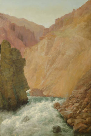 Abby Williams Hill - Hills' painting of a gorge in Chelan County, Washington that was one of 24 of her paintings exhibited at the 1904 World's Fair.