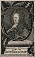 Gottfried Wilhelm, Baron von Leibniz. Line engraving. Wellcome V0003478.jpg