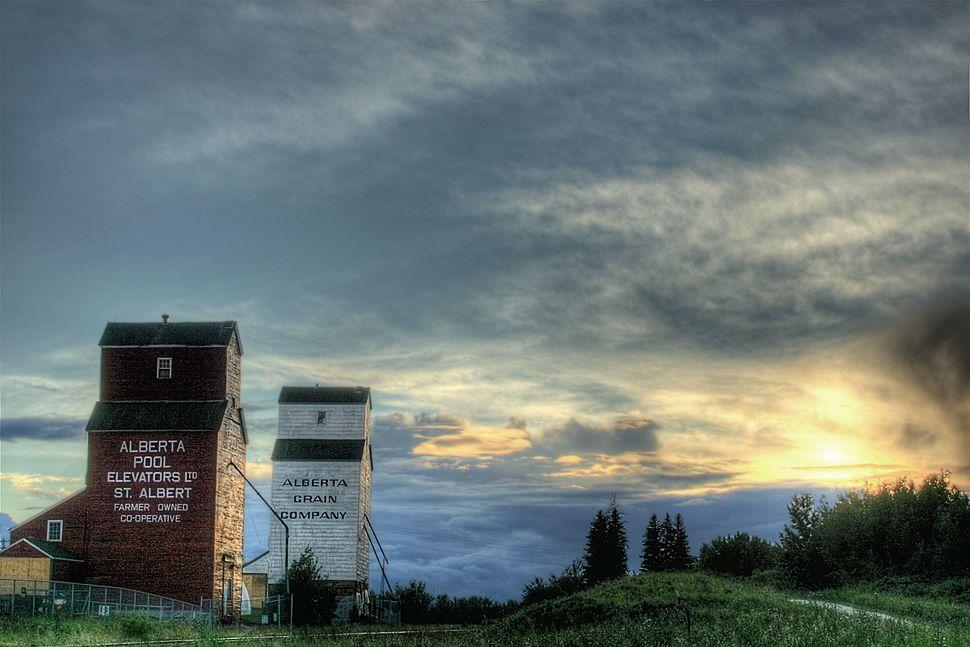 Grain Elevators St Albert Alberta Canada 02A