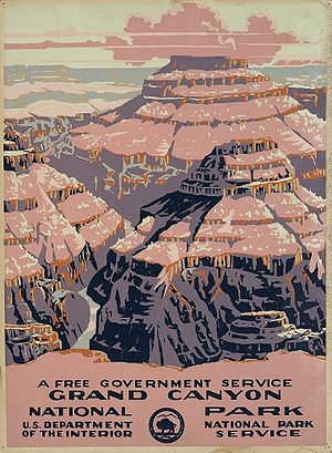 Poster for Grand Canyon National Park, Arizona...