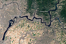 Photographie satellite de la zone du barrage de Grand Coulee