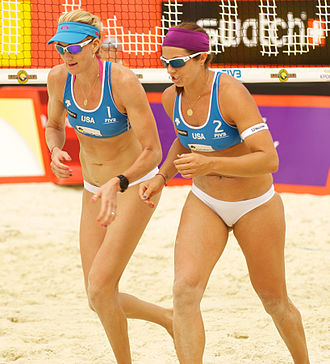 Misty May-Treanor - Kerri Walsh (left) and Misty, 2012