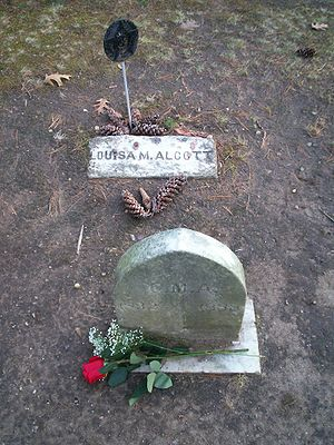 English: Grave of American writer Louisa May A...