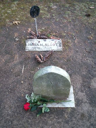 Louisa May Alcott - Louisa May Alcott's grave in Sleepy Hollow Cemetery, Concord, Massachusetts.