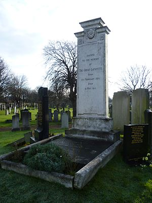Sigmund Neuberger - Grave of the Great Lafayette, Piershill Cemetery, Edinburgh