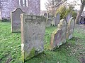 Gravestones at the east end of St Martin's Church, Brampton - geograph.org.uk - 1147739.jpg