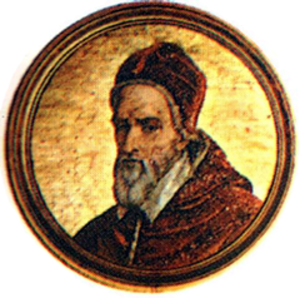 Pope Gregory XIV - A medal depicting Gregory XIV.