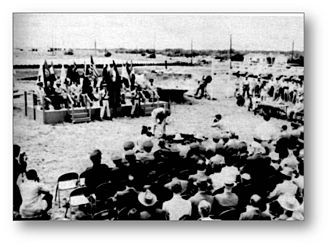 United States Air Force School of Aerospace Medicine - Ground Breaking Ceremony for USAFSAM, Brooks Air Force Base, San Antonio, Texas on 10 May 1957