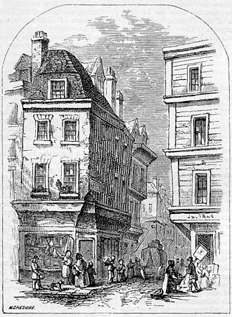 Grub Street - 19th-century Grub Street (latterly Milton Street), as pictured in Chambers Book of Days