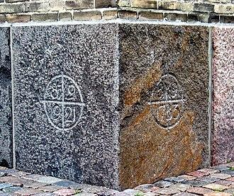 Grundtvig's Church - Image: Grundtvigskirken grundsten 2005
