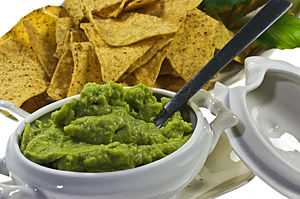 Guacamole - avocado-based dip originated in Mexico